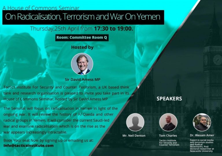 Seminar at the Commons on Radicalisation and Terrorism in Yemen